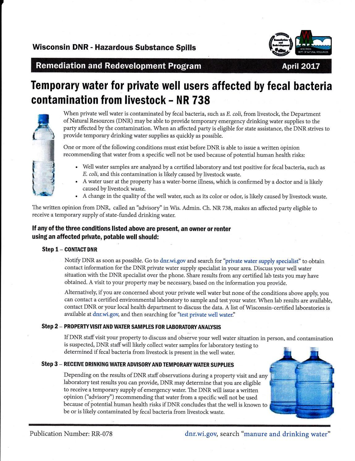 NR 738 Emergency Water Program by Warren Bluhm - issuu