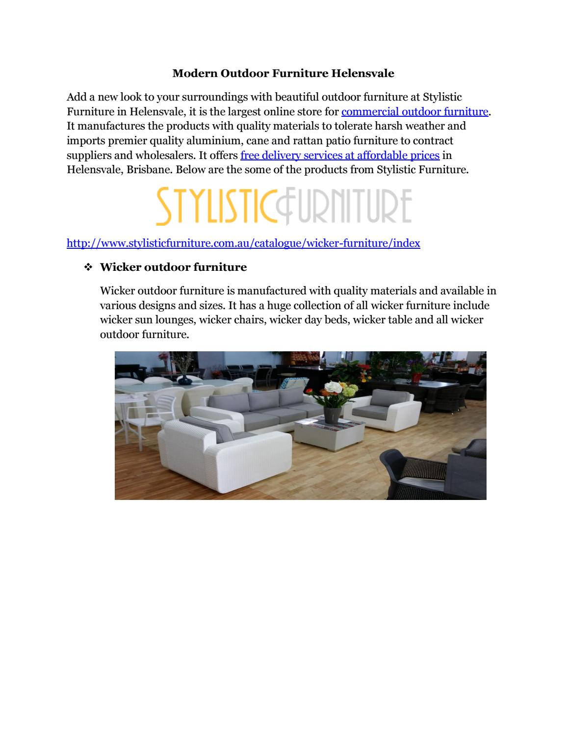 Modern outdoor furniture helensvale by moryhuins issuu