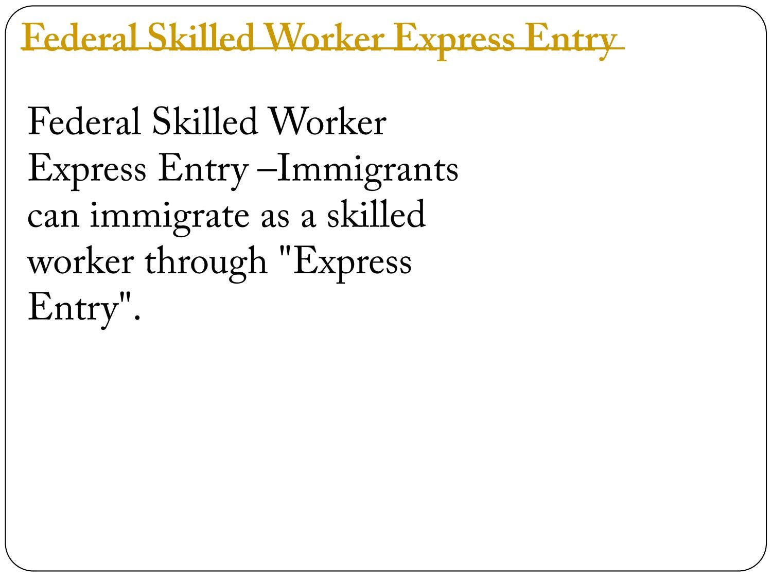 personal experience of working in federal express Enter your personal details, work experience, education, etc (note: you may exit the profile at any time your information will be saved your information will be saved but, if you do not complete the express entry profile in 30 days , you will not be able to submit it and will have to start again.