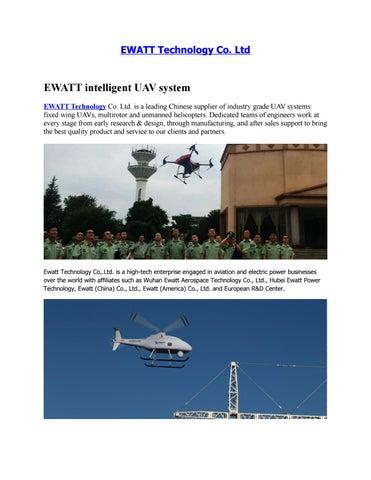 Ewatt com: Airborne Lidar Scanning System - UAV Solutions For