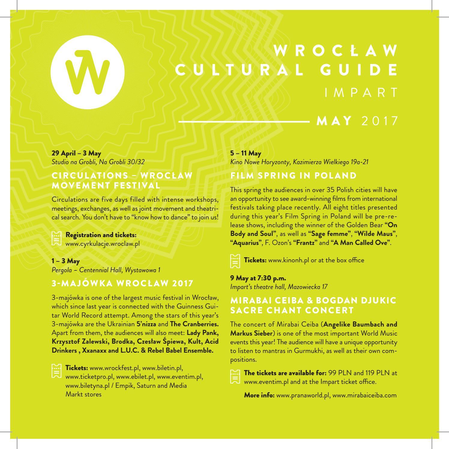 Wroclaw Cultural Guide Impart - may 2017 by Wrocław 2016 - issuu
