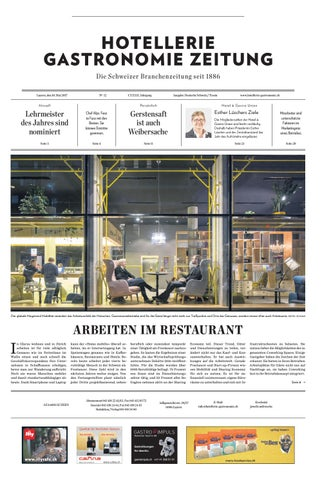 HG Zeitung 12 2017 By Hotellerie Gastronomie Verlag