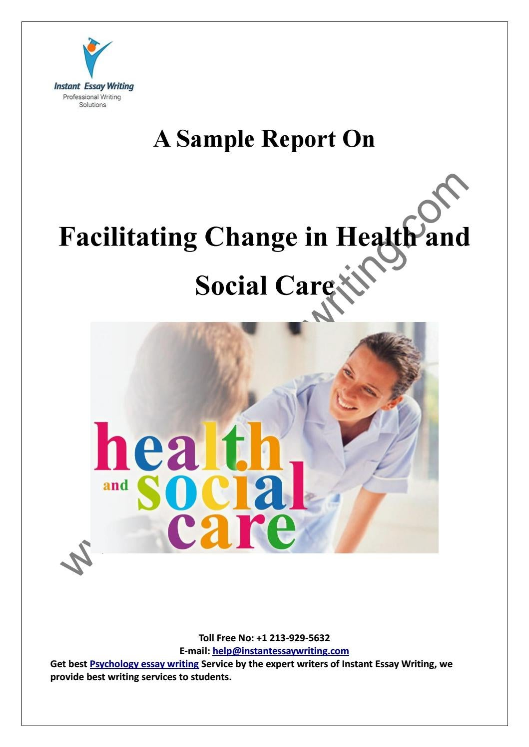 unit 26 facilitating change in health and social care Management unit title: unit 26 facilitating change in health and social care assignment title facilitating payments may help.