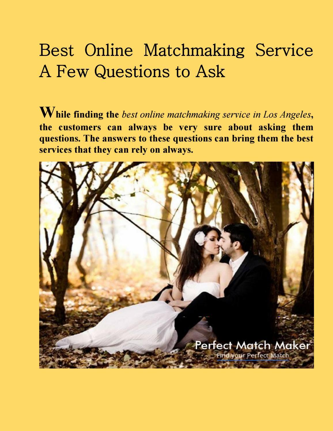best online matchmaking services