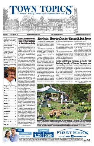Town Topics Newspaper May 10 2017 By Witherspoon Media Group Issuu