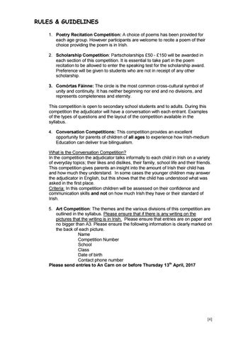Feis CT 2017 - Rules & Guidelines by An Carn - issuu