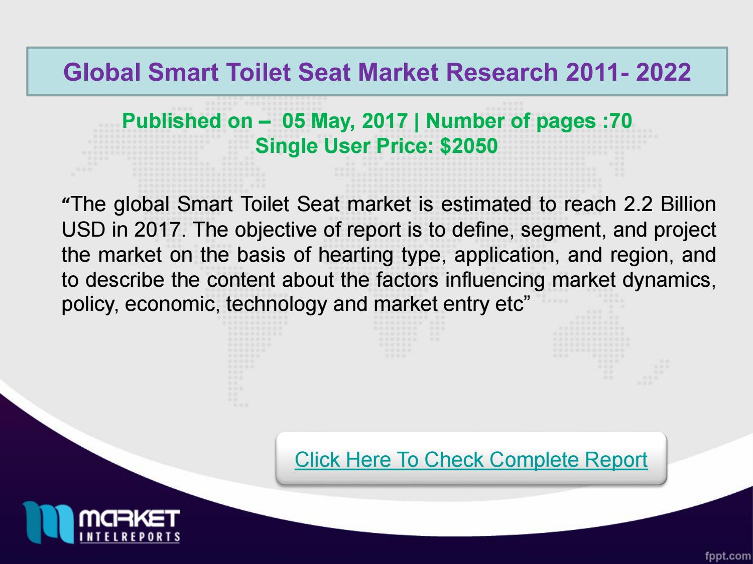 Surprising Global Smart Toilet Seat Market Forecast To 2022 Research Machost Co Dining Chair Design Ideas Machostcouk