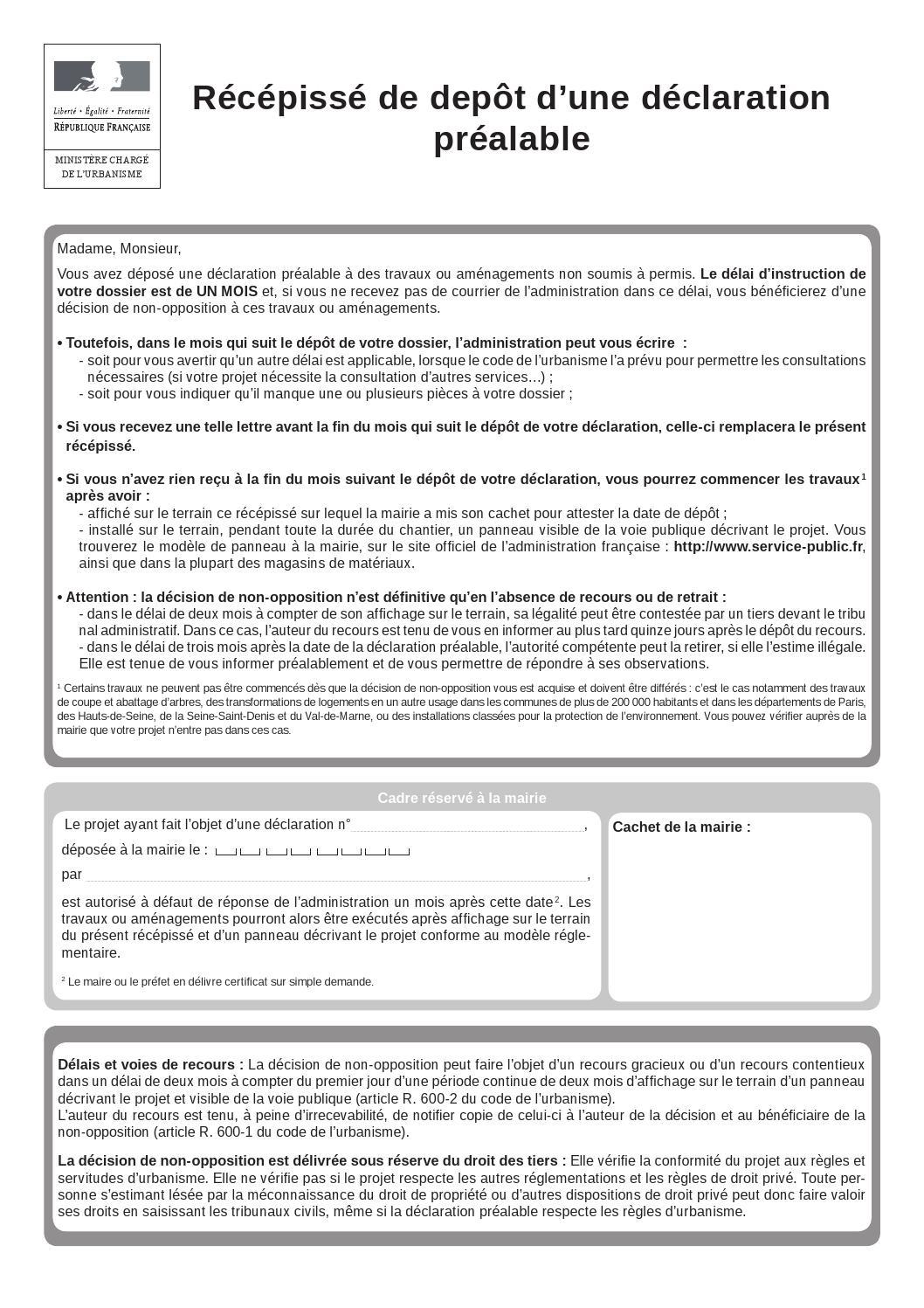 Declaration prealable maison individuelle et ou ses annexes cerfa 13703 05 0 by argel s sur mer - Declaration fin de travaux ...