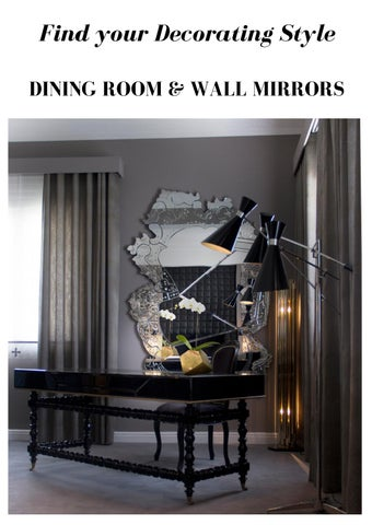 Find Your Decorating Style DINING ROOM U0026 WALL MIRRORS