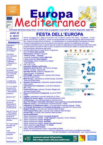 Europa mediterraneo n 19 del 10 05 2017 by Euromed Carrefour Sicilia ... b251bb5a6593