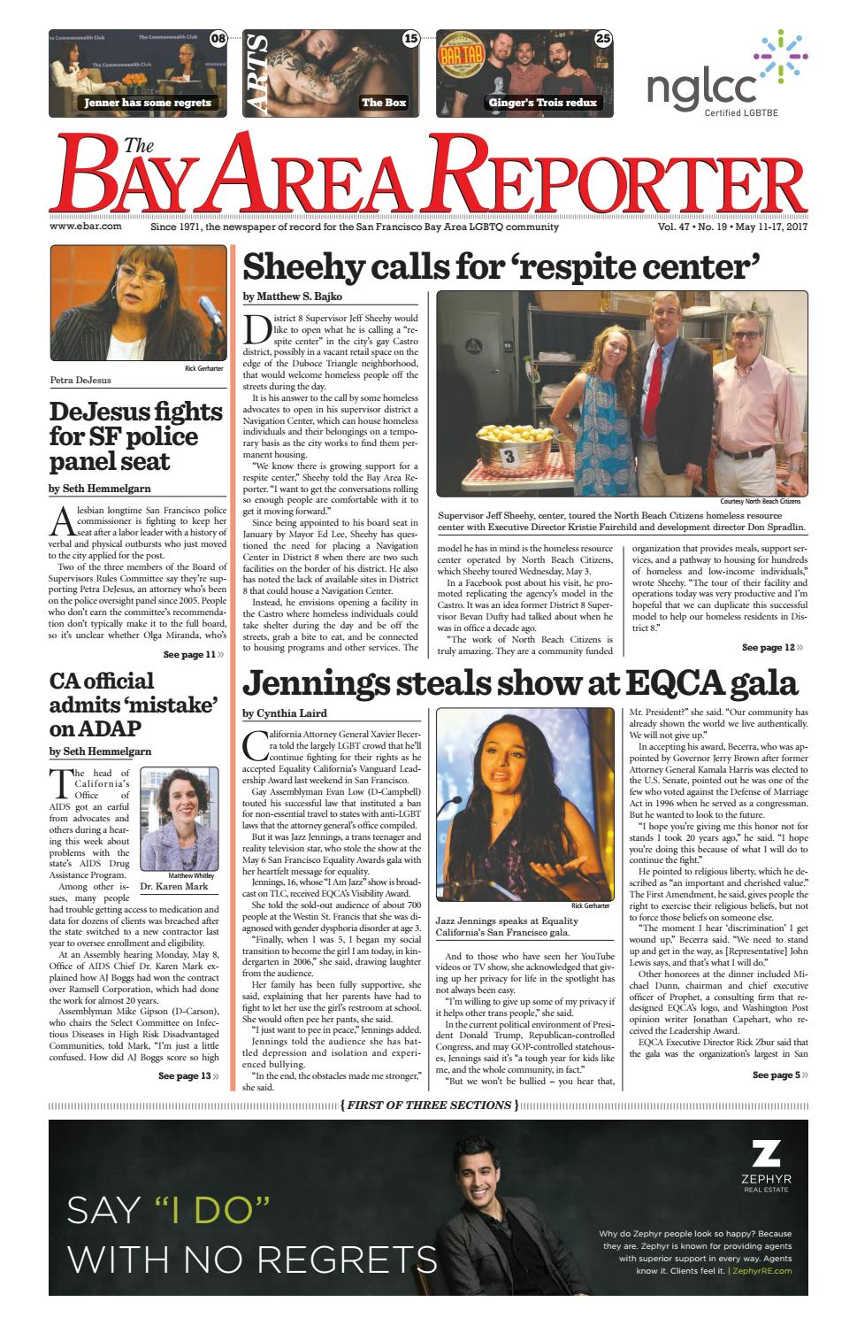 Bay Area Reporter : May edition of the bay area reporter by