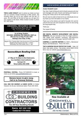 Bulletin 1531 By Cromwell Bulletin Issuu