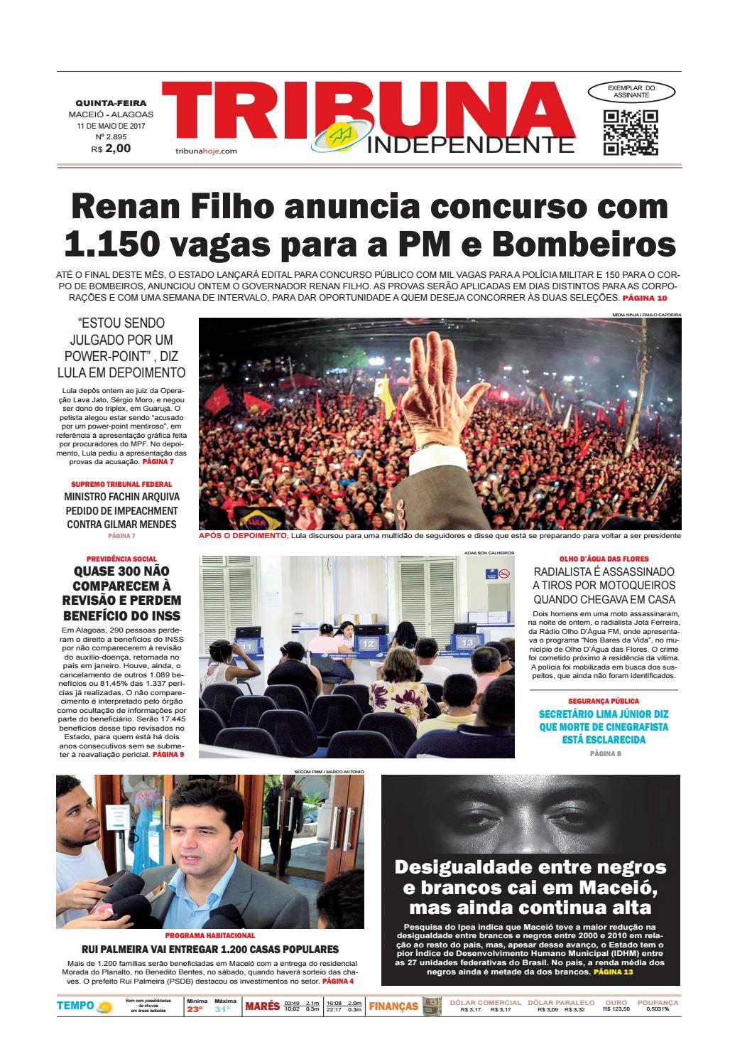 d2a9bb3b4 Edição número 2895 - 11 de maio de 2017 by Tribuna Hoje - issuu