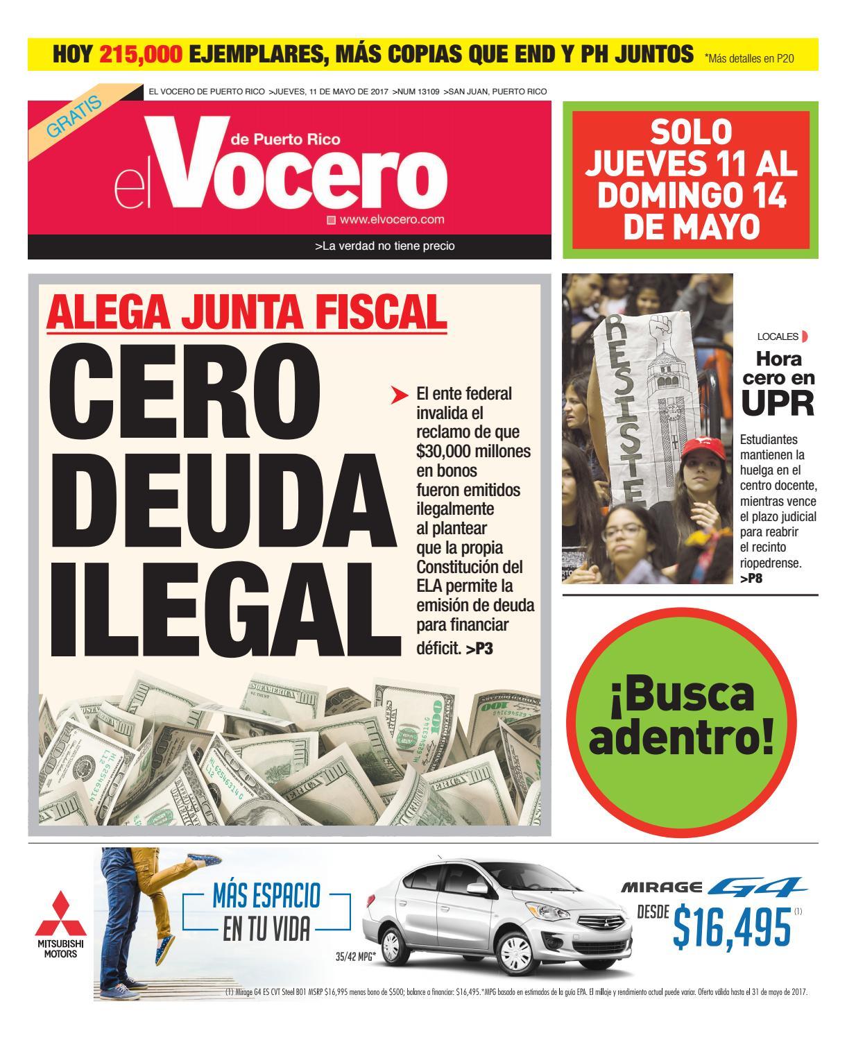 Edición 11 de Mayo 2017 by El Vocero de Puerto Rico - issuu