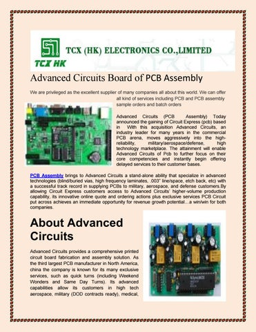 Advanced circuits board of pcb assembly by pcbfpcboard - issuu