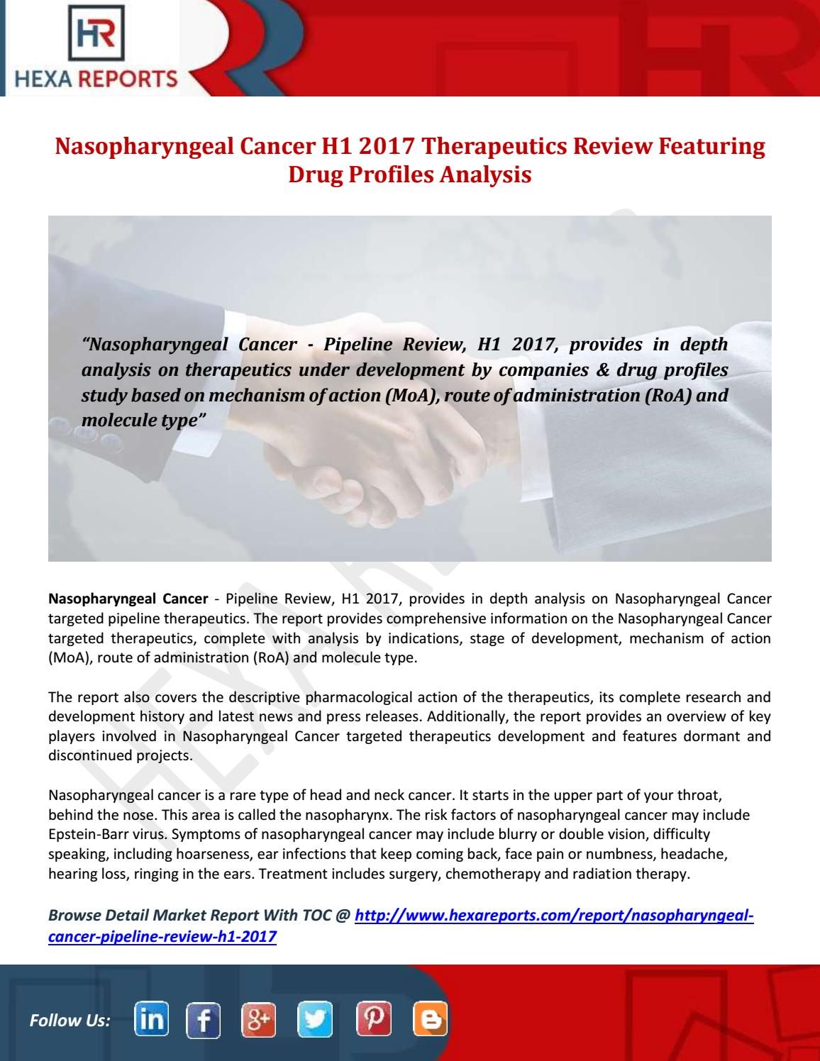 Nasopharyngeal cancer h1 2017 therapeutics review featuring