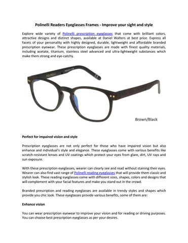 64f383790d5 Polinelli Readers Eyeglasses Frames - Improve your sight and style ...