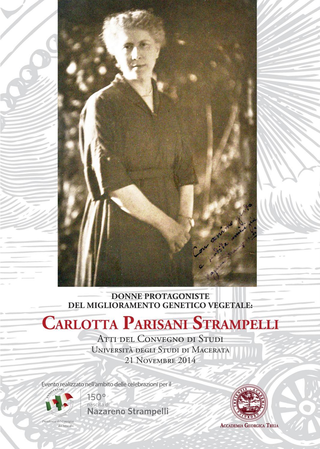 Donne protagoniste del miglioramento genetico vegetale  Carlotta Parisani  Strampelli by Accademia Georgica - issuu 4b21cbc5b63b
