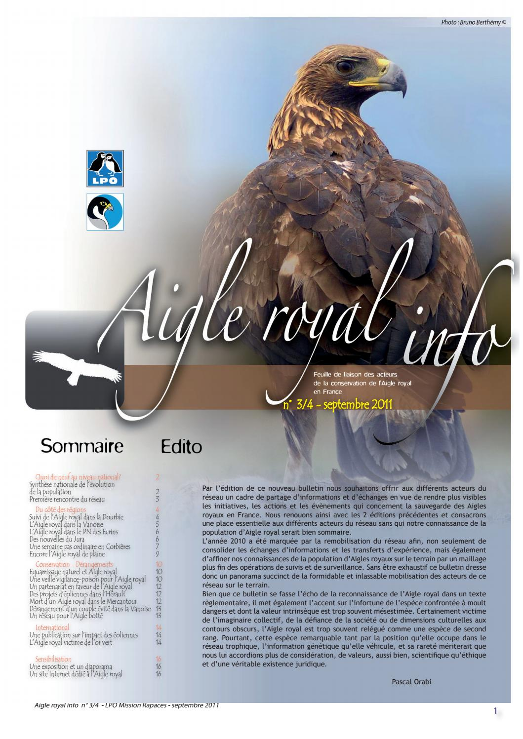 Aigle royal n°3 4 - Septembre 2011 by LPO Mission rapaces - issuu 82739c54536