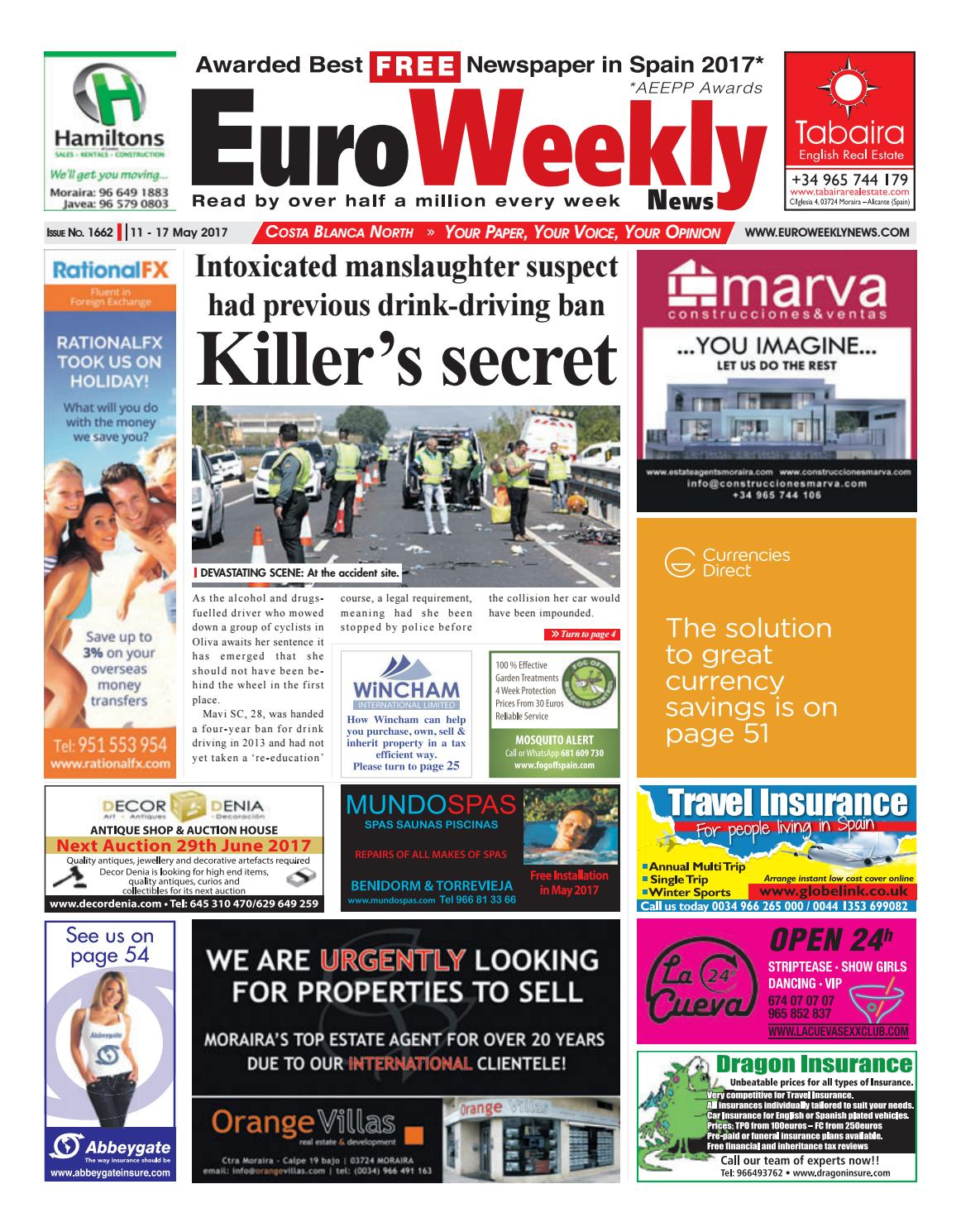 704ec27355f7 Euro Weekly News - Costa Blanca North 11 - 17 May 2017 Issue 1662 by Euro  Weekly News Media S.A. - issuu