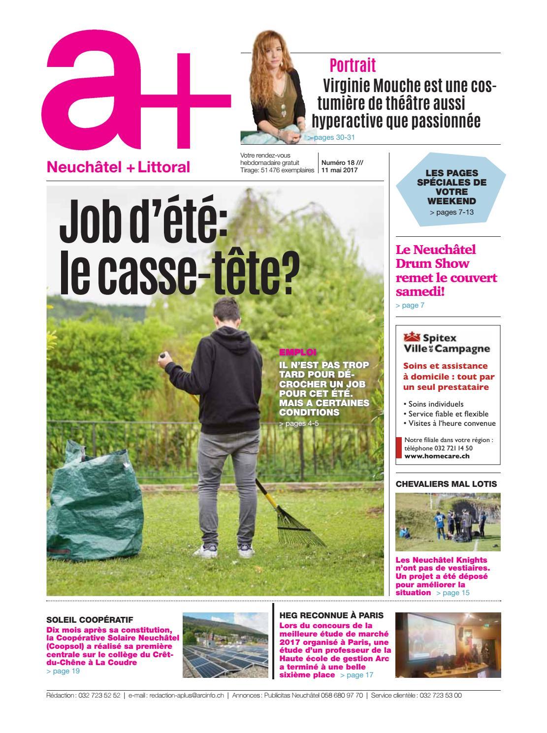 c9028324fa A+ Neuchâtel + Littoral - Edition du 11 mai 2017 by ESH Médias - issuu