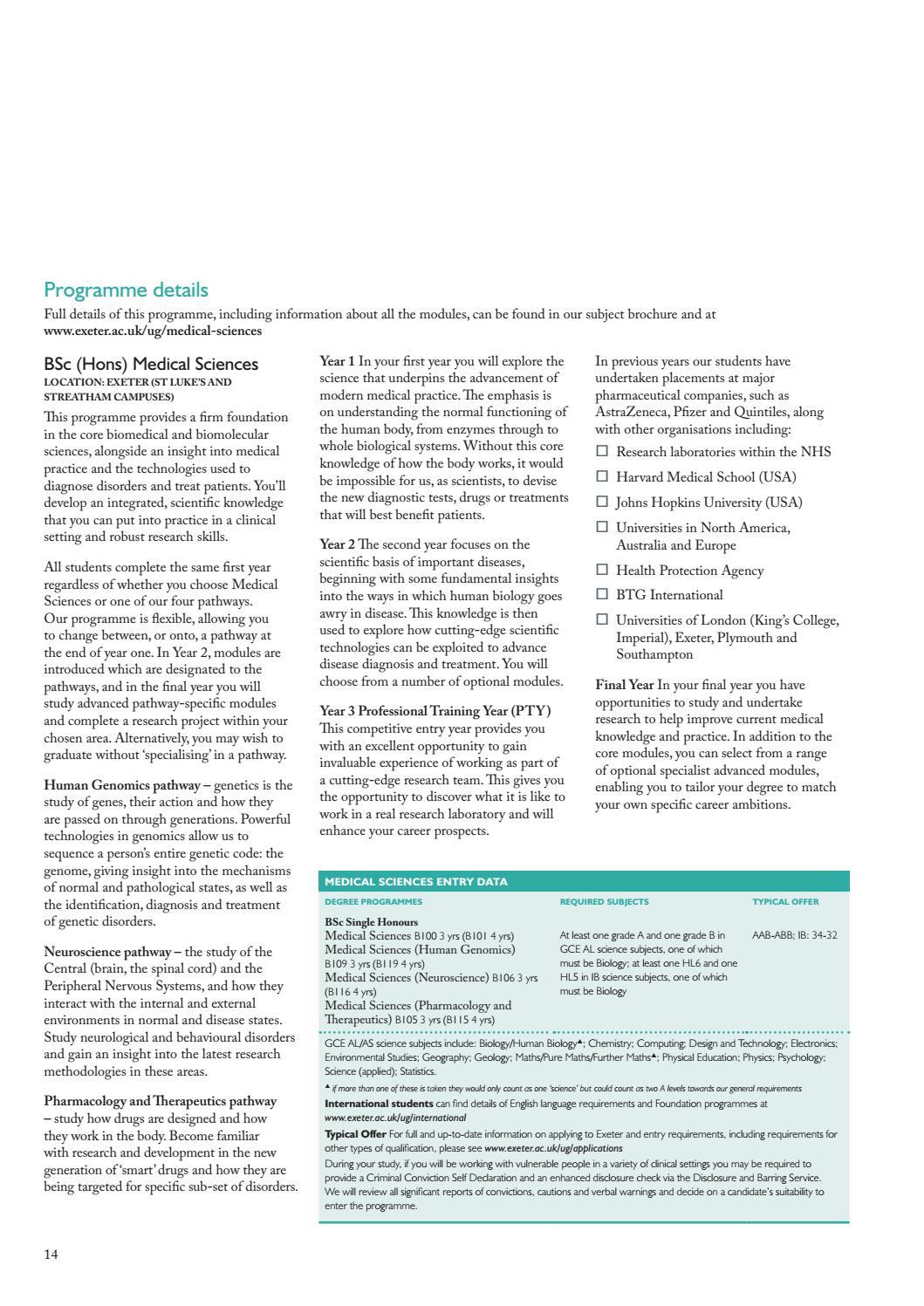 Medicine undergraduate subject brochure 2018 by University