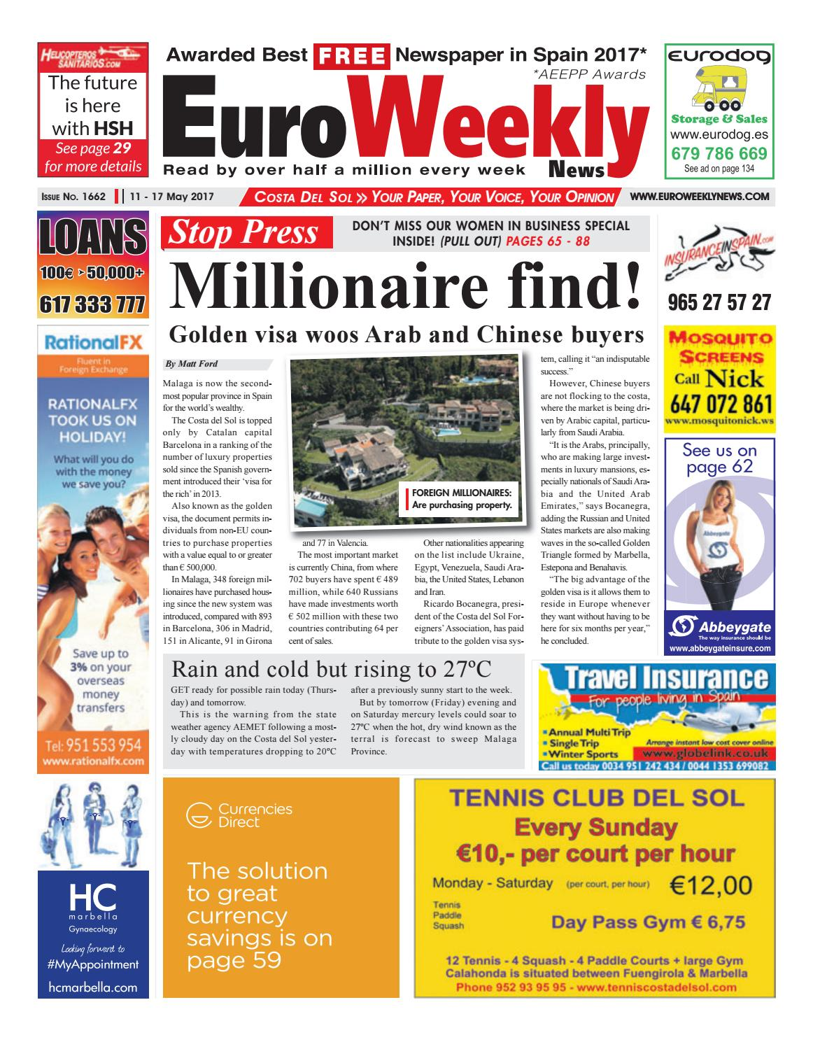 Euro Weekly News - Costa del Sol 11 - 17 May 2017 Issue 1662 by Euro Weekly  News Media S.A. - issuu 145bb2f52