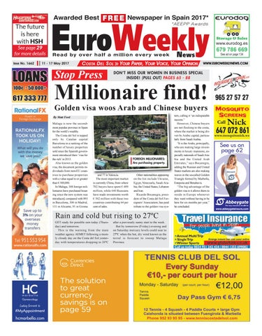 info for e1b5f 27caa Euro Weekly News - Costa del Sol 11 - 17 May 2017 Issue 1662 by Euro ...