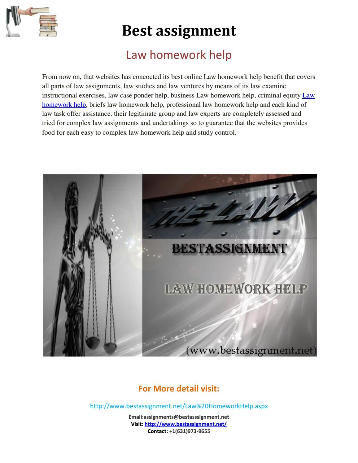 Homework help page