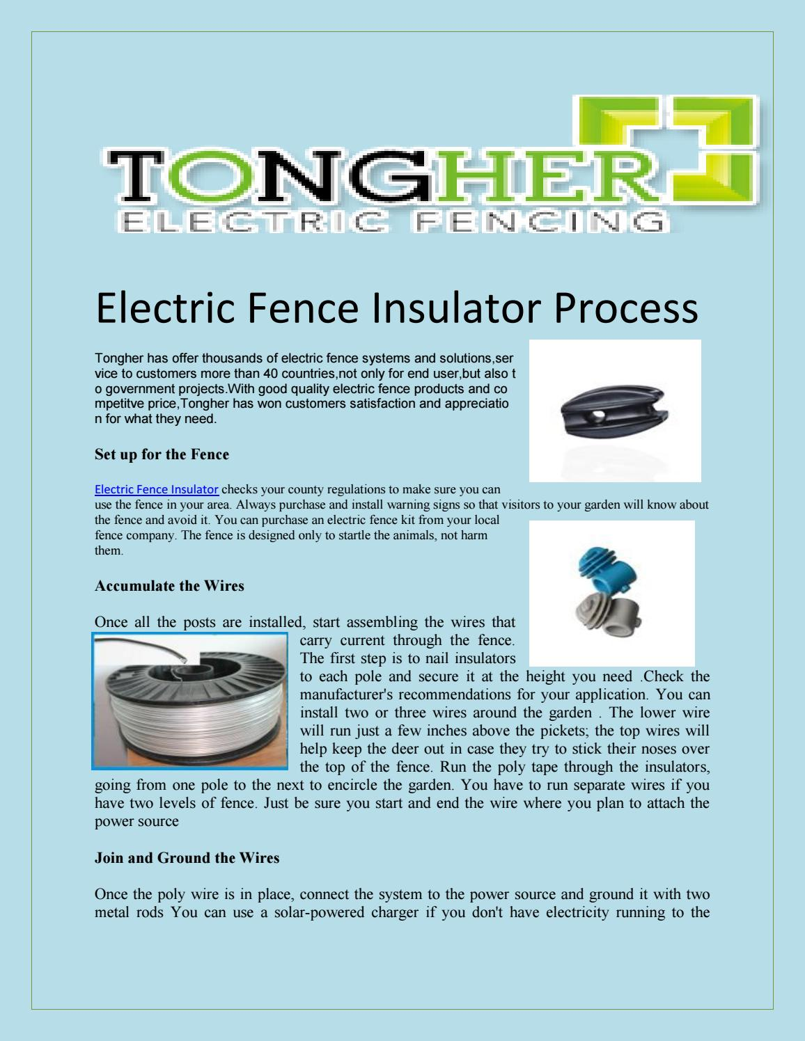 Electric Fence Insulator By Tonghertech Issuu How To Install