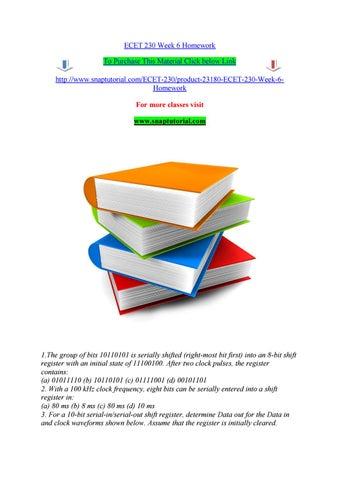 ecet 230 week 6 homework