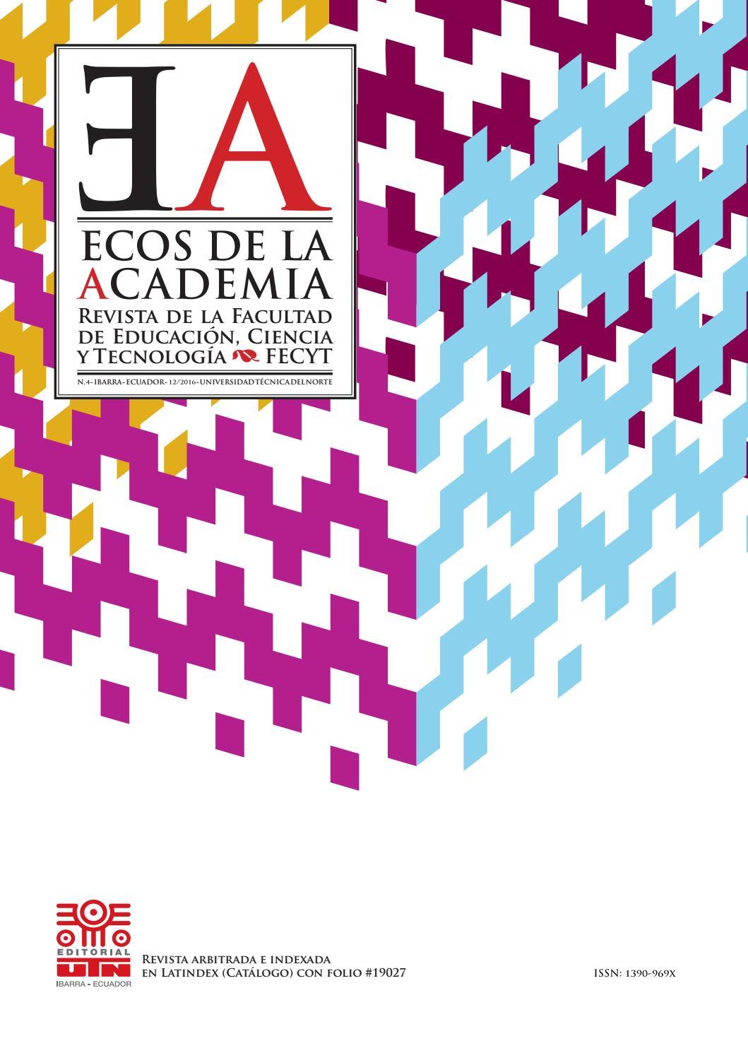 Revista ECOS de la Academia - No. 4 by Editorial Universidad Técnica ... bbc21f268b786