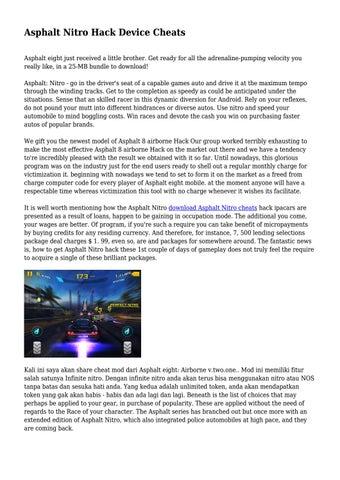 Asphalt Nitro Hack Device Cheats    by neweld10 - issuu