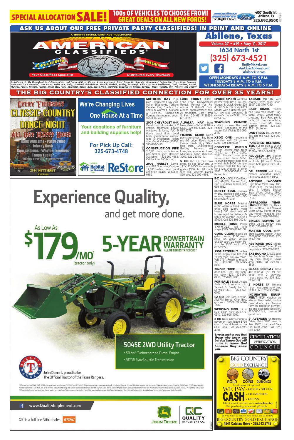 American Classifieds Abilene 05-11-17 by American