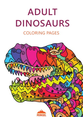 Dinosaur Coloring Pages For Adults - Free Printable Coloring Book by ...