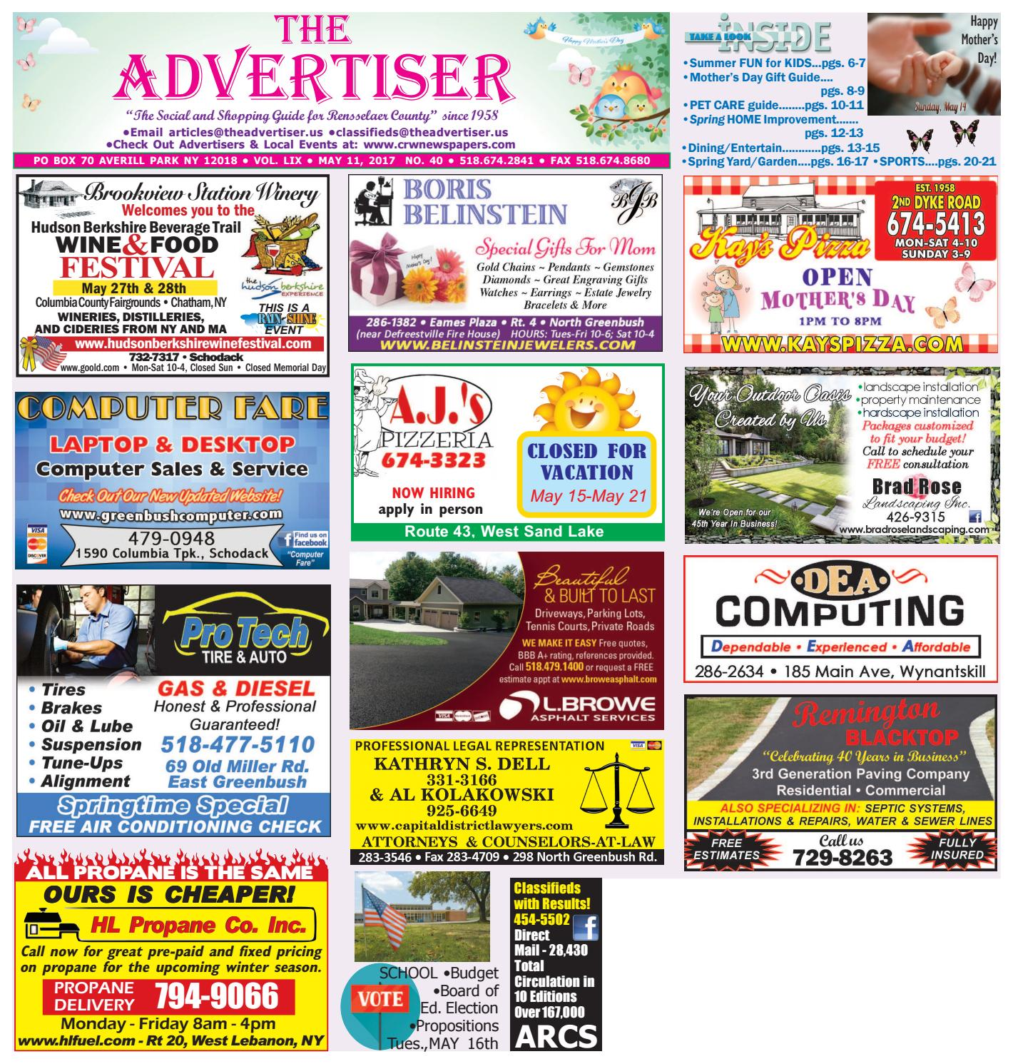 85842a4a04cf Advertiser South 051117 by Capital Region Weekly Newspapers - issuu