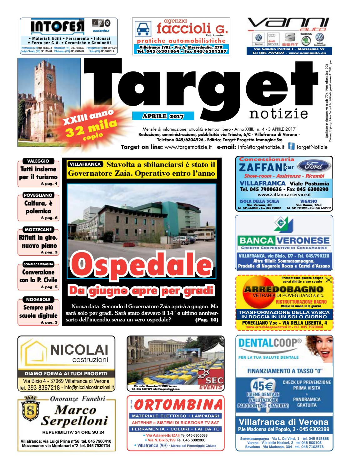 targetnotizie 04 aprile 2017 by ischarlie - issuu - Arredo Bagno Povegliano