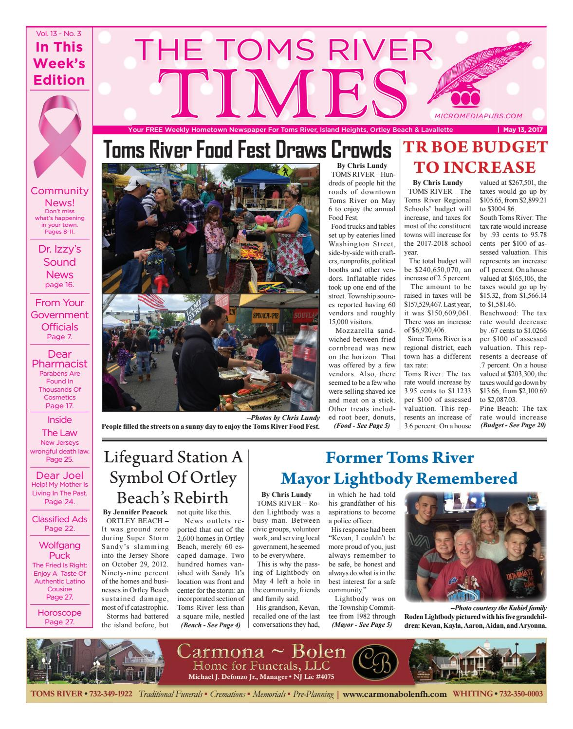 2017-05-13 - The Toms River Times by Micromedia Publications/Jersey Shore  Online - issuu