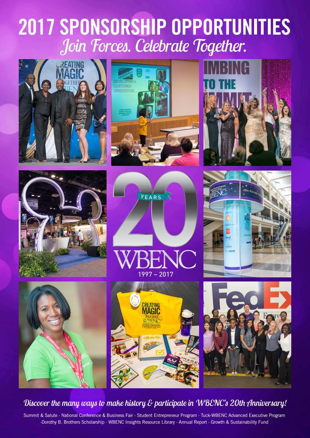 Wbenc 2017 Sponsorship Brochure By Wbenc Issuu