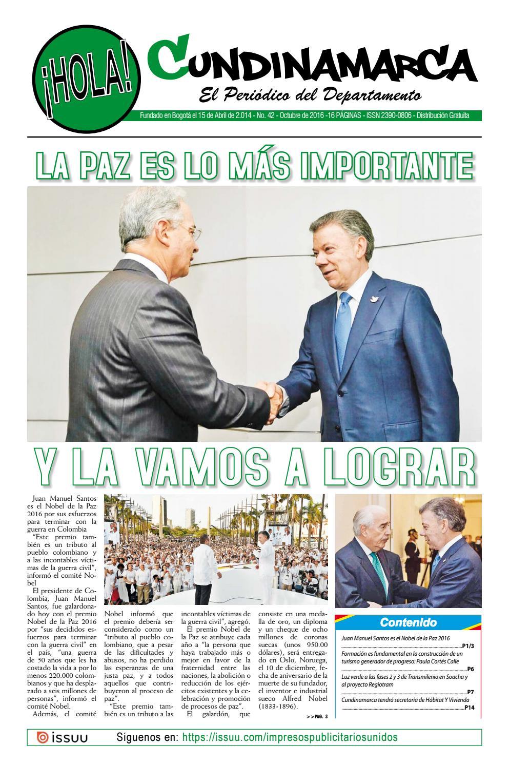 48766c6a75571 Hola cundinamarca No. 42 by Impresos Publicitarios Unidos - issuu