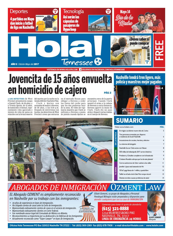 Hola TN - Año 9 - Ed. Mayo 2017 by Hola Tennessee Newspaper - issuu