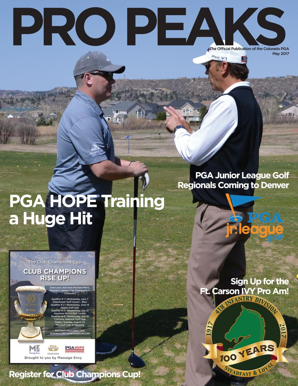 colorado pga may 2017 pro peaks digital magazine by colorado pga