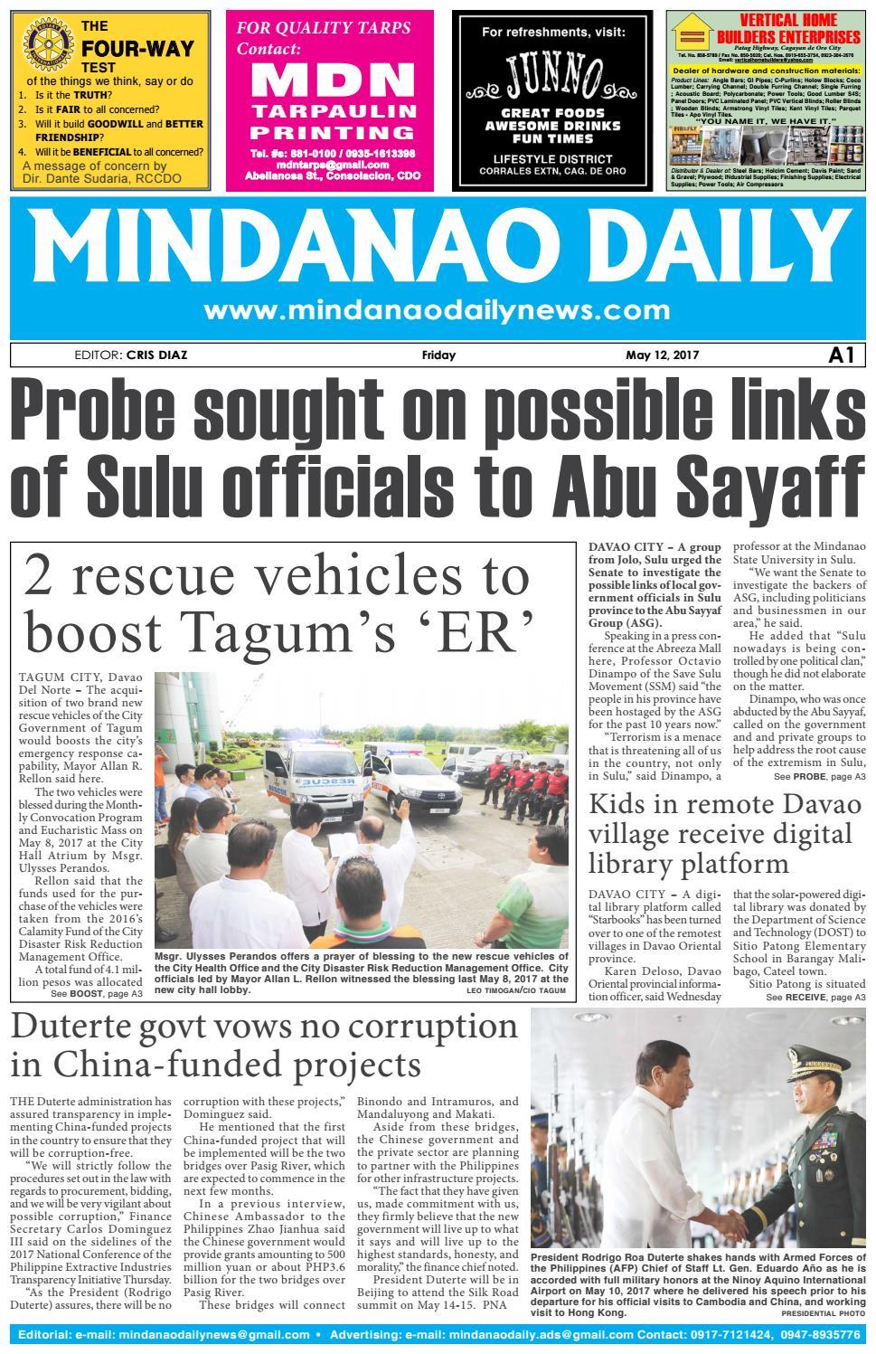 Mindanao Daily Set B (May 12, 2017) by Mindanao Daily News