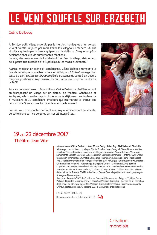 Atelier Théâtre Jean Vilar Saison 2017 2018 By Atelier