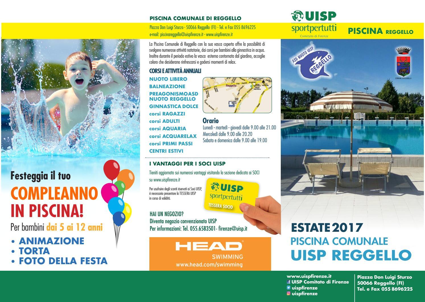 Piscina comunale di reggello estate 2017 by uisp - Corsi per neonati in piscina ...
