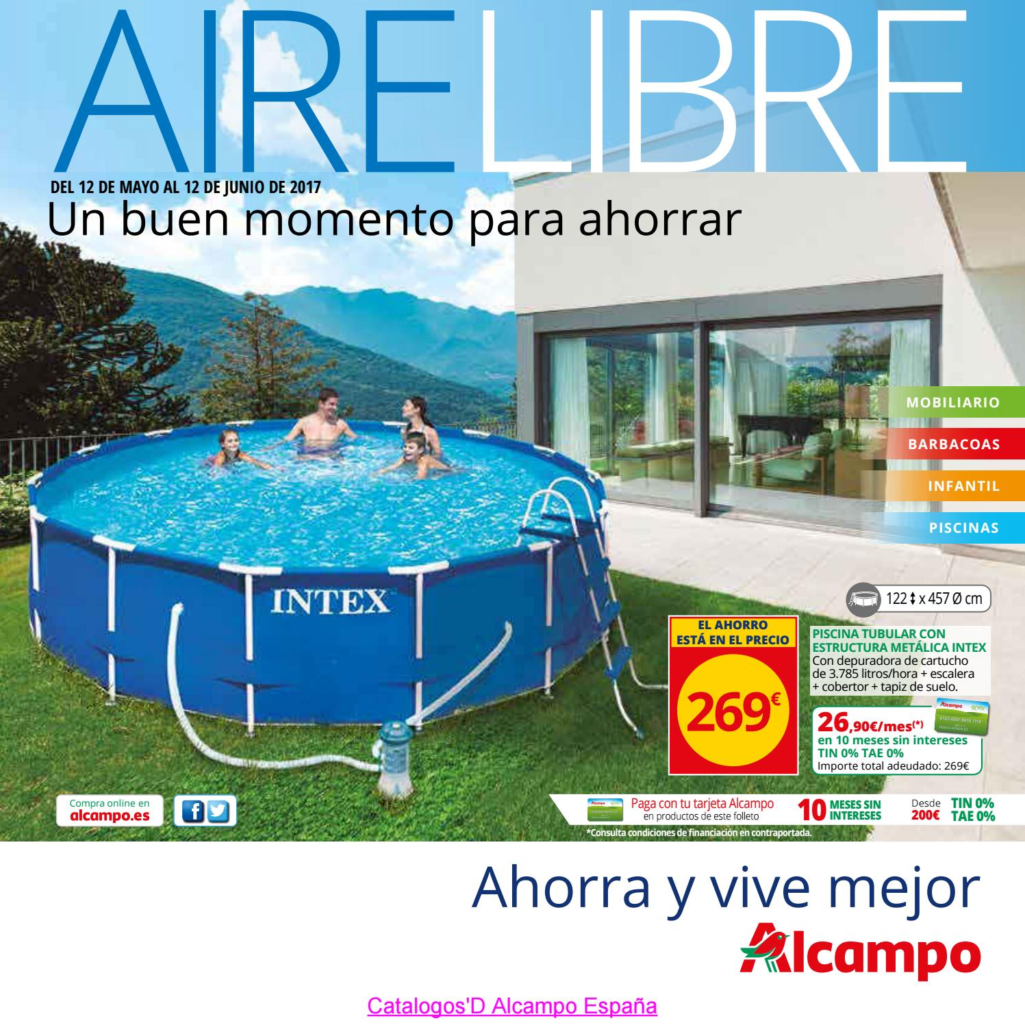 Catalogosd aire libre alcampo 5 2017 by revistas en linea for Gresite piscina bricodepot
