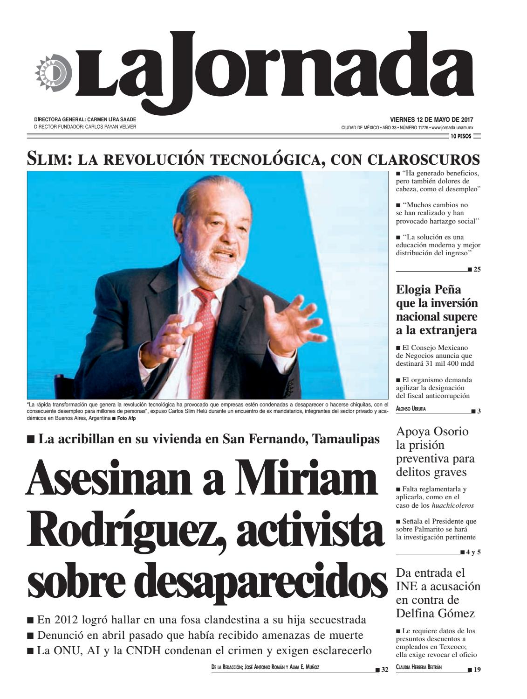 La Jornada, 05/12/2017 by La Jornada: DEMOS Desarrollo de Medios ...