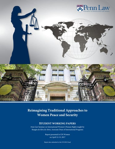 Reimagining traditional approaches to women peace and security by