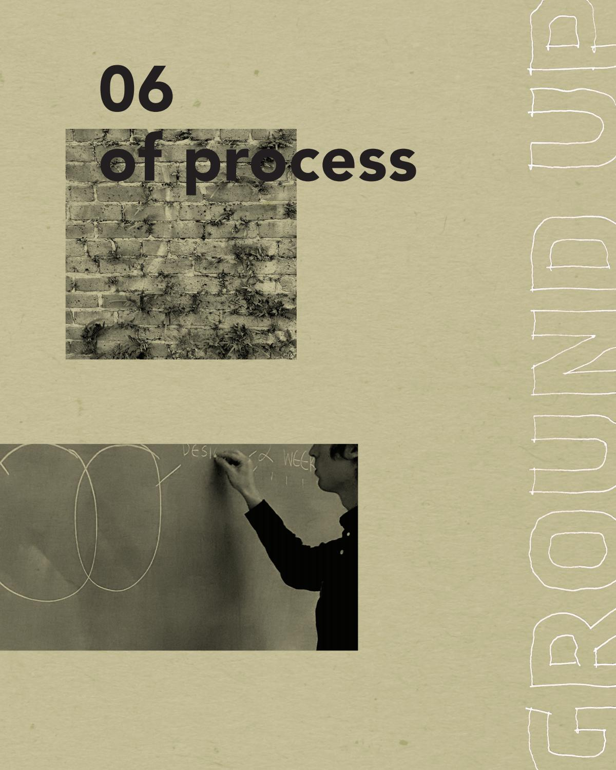 ISSUE 06: OF PROCESS by Ground Up Journal - issuu