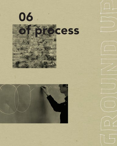 Issue 06 Of Process By Ground Up Journal Issuu